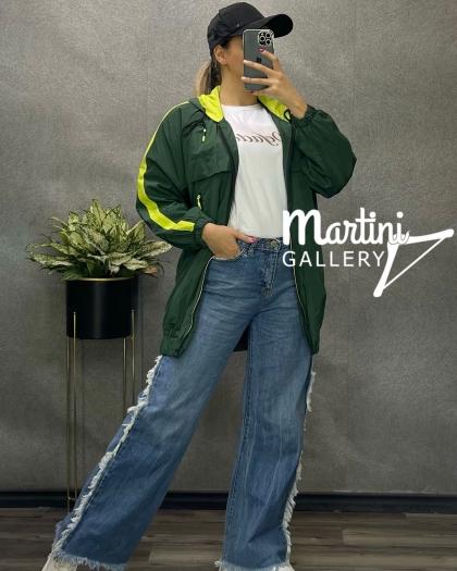 بارونی مدل دخترونه زیپ رنگی کد 391